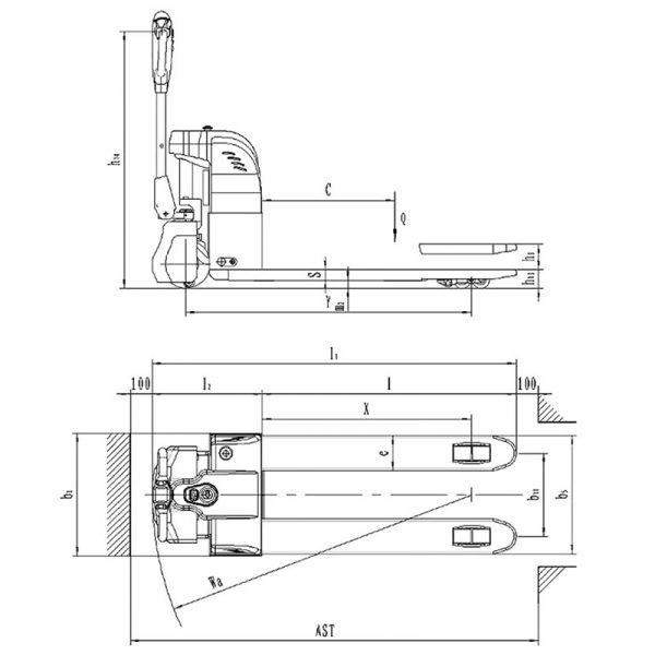 Transpaleta eléctrica AY-1500